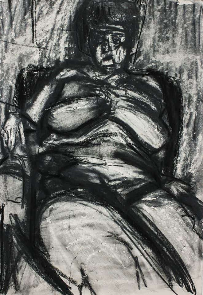 Maxine Seated Nude - Richard Fitton